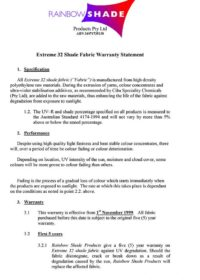 E32 Warranty Statement