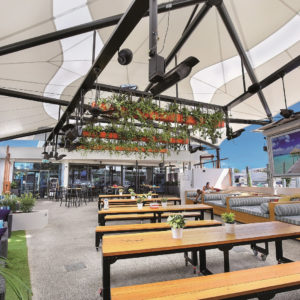 Mehler Textiles used for Coolum Beach Hotel Architectural Shade Structure