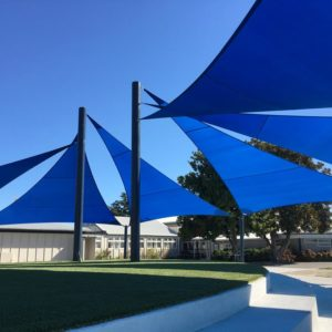 Taradale High School Shade Sail using extreme 32 Fabric by Rainbow Shade