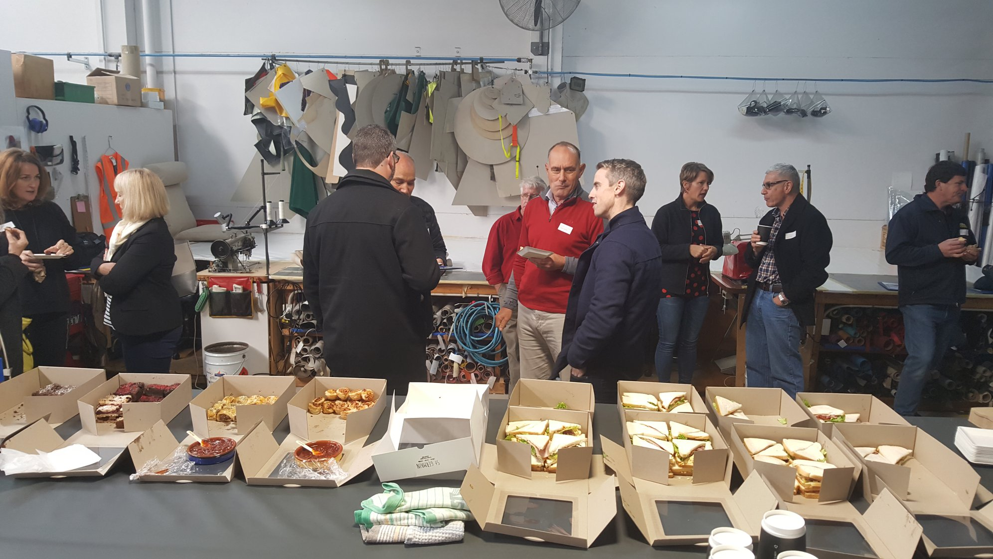 Attendees enjoy nibbles and networking after the Ziptrak® training