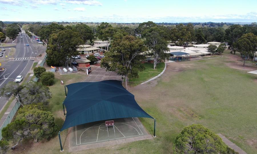 extreme32 shade cloth at Ruse Public School AU