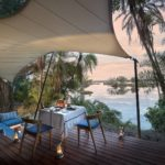 VALMEX® Lodge Deluxe FR PVC used for a luxury shade sail - courtesy of Thorntree