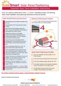SolarSmart™ Solar Panel Positioning Instructions